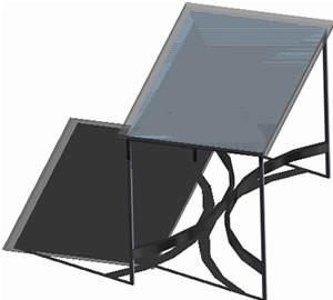 Planos de Escritorio 3d – materiales aplicados, en Escritorios – Muebles equipamiento