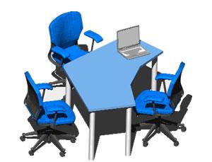 Planos de Escritorio de oficina, en Escritorios – Muebles equipamiento
