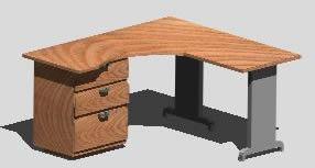 Planos de Escritorio ejecutivo, en Escritorios – Muebles equipamiento