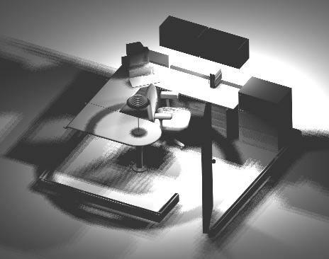 imagen Escritorio en 3d, en Escritorios - Muebles equipamiento