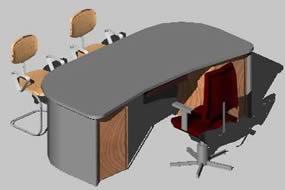 Planos de Escritorio, en Escritorios – Muebles equipamiento
