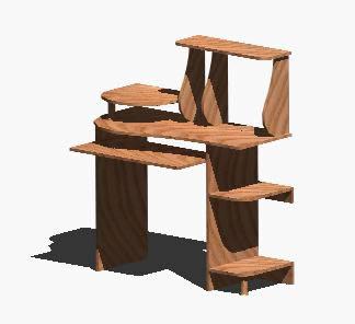 Planos de Escritorio pc – 3d, en Escritorios – Muebles equipamiento