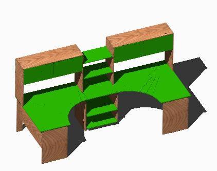 imagen Escritorios 3d, en Oficinas y laboratorios - Muebles equipamiento
