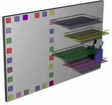 Espejo de lavabo en 3d con materiales, en Baños – Muebles equipamiento