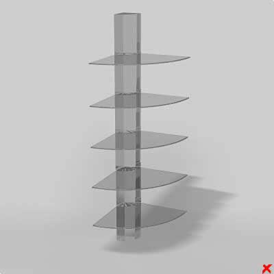 Esquinero de cristal 3d, en Estanterías y modulares – Muebles equipamiento