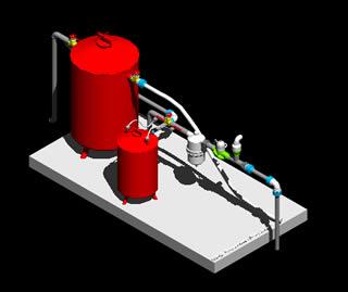 Planos de Estacion de filtrado, en Instalaciones de riego – Granjas e inst. agropecuarias