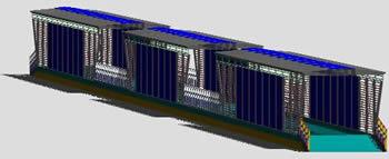Planos de Estacion tipo sistema de transporte publico bogotá – transmilenio, en Medios de transporte – Proyectos
