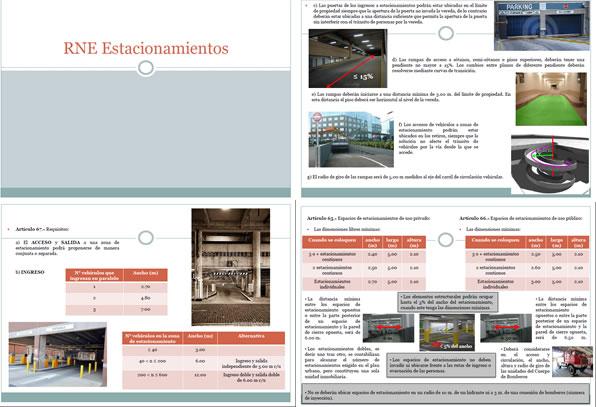 Estacionamientos, en Monografías guías y estudios varios – Varios