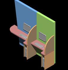 Planos de Estaciones de computadora, en Cibercafés locutorios y telefónicas – Muebles equipamiento