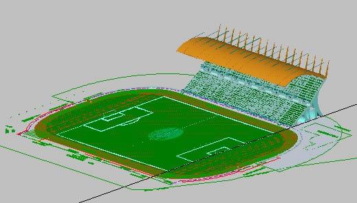 Planos de Estadio 3d, en Proyectos estadios – Deportes y recreación