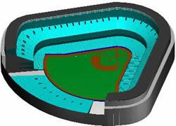 Planos de Estadio de beisbol, en Proyectos estadios – Deportes y recreación