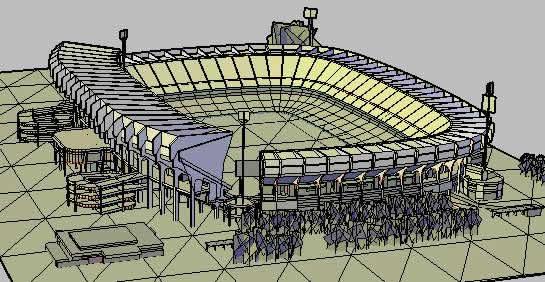 Planos de Estadio free state stadium 3d, en Proyectos estadios – Deportes y recreación