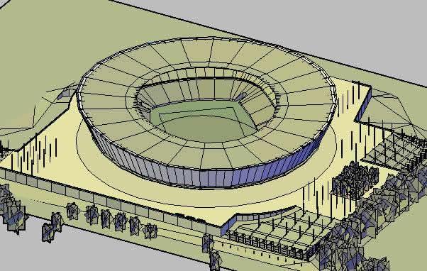 Planos de Estadio green point 3d, en Proyectos estadios – Deportes y recreación
