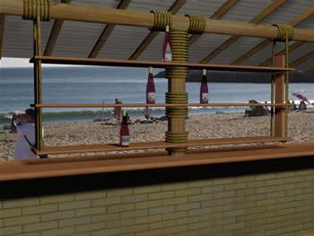 Estante expositor bar de playa – 3d, en Bares y restaurants – Muebles equipamiento