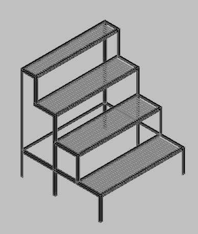imagen Estante para baterias 3d, en Estanterías y modulares - Muebles equipamiento