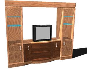 imagen Estante para tv 3d, en Estanterías y modulares - Muebles equipamiento