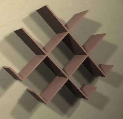 Estanter a baldas 63x81x17 cm en estanter as y modulares - Baldas y estanterias ...