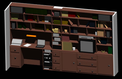 Planos de Estantería de madera, en Estanterías y modulares – Muebles equipamiento