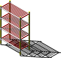 Planos de Estanteria metálica en 3d, en Estanterías y modulares – Muebles equipamiento