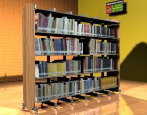 imagen Estanteria para biblioteca 3d, en Estanterías y modulares - Muebles equipamiento