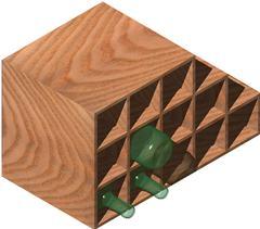 Planos de Estanteria para colocar botellas 3d con materiales, en Estanterías y modulares – Muebles equipamiento