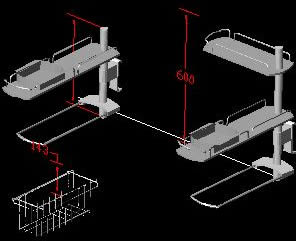 Planos de Estanterías móviles, en Cocinas – Muebles equipamiento