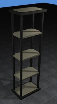 imagen Estantes de hierro y hormigón 3d, en Estanterías y modulares - Muebles equipamiento