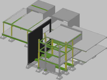 imagen Estructura 3d, en Estructuras de acero - Detalles constructivos