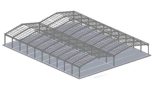 imagen Estructura galpon 3d, en Galpones - Proyectos
