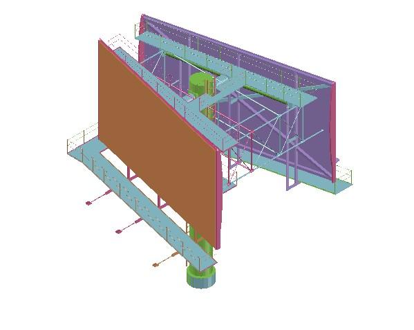 Planos de Estructura metalica para colocar gigantografias, en Cartelería y publicidad – Equipamiento urbano