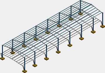 Planos de Estructura nave industrial, en Galpones – Proyectos