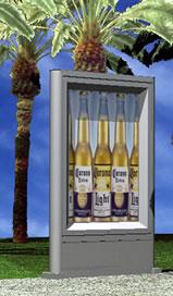 imagen Estructura porta anuncio publicitario 3d, en Cartelería y publicidad - Equipamiento urbano