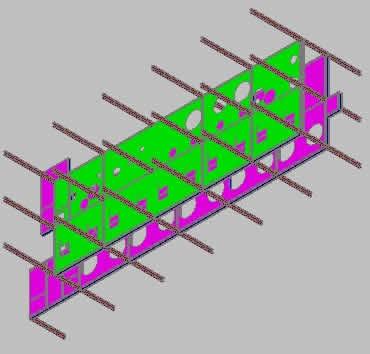 Planos de Estructura vigas h, en Maquinaria para industria de la alimentación – Máquinas instalaciones