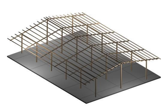 Planos de Estructuras metalicas, en Galpones – Proyectos
