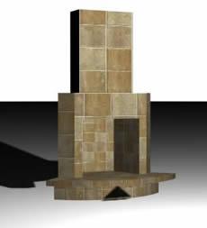 Estufa de combustible solido leña 3d – hogar, en Estufas de fuego abierto – hogares – Climatización