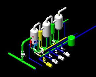 Planos de Evaporador de una planta pesquera, en Maquinaria para industria de la alimentación – Máquinas instalaciones