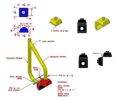 Planos de Extractor de humos 3d, en Maquinaria – proyectos varios – Máquinas instalaciones