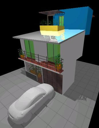 imagen Fachada 3d, en Vivienda unifamiliar 3d - Proyectos