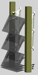 imagen Fachada de vidrio  - detalle 3d, en Paños acristalados - Aberturas