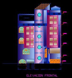 Planos de Fachada de vivienda, en Vivienda multifamiliar – condominios – Proyectos