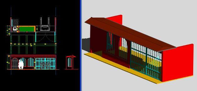 Planos de Fachada en 3d, en Accesos – Proyectos