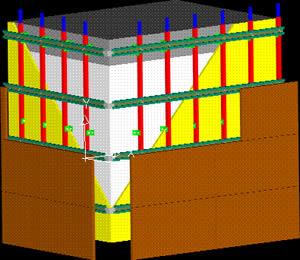 Planos de Fachada ventilada 3d, en Revestimiento de piedras y granitos – Detalles constructivos