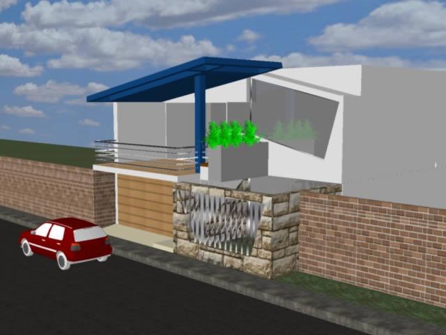 Planos de Fachada vivienda unifamiliar dos pisos, en Vivienda unifamiliar 3d – Proyectos