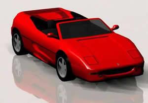 Ferrari 3d, en Automóviles en 3d – Medios de transporte