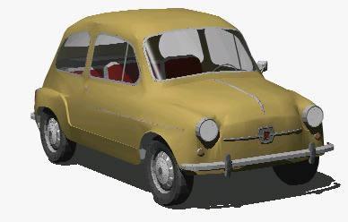 Planos de Fiat 600, en Automóviles en 3d – Medios de transporte