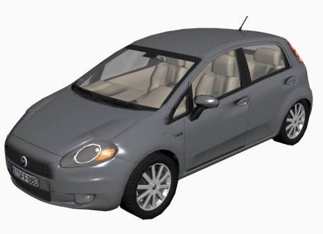 Fiat punto – automovil 3d, en Automóviles en 3d – Medios de transporte