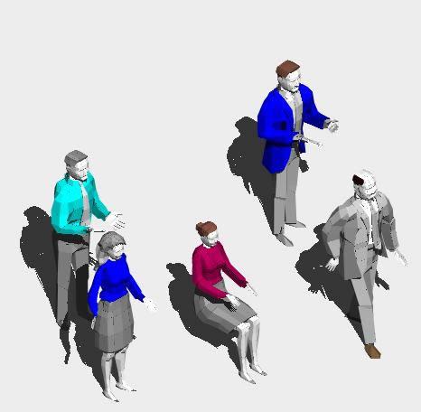 Planos de Figuras humanas 3d, en 3d – Personas