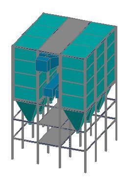 Planos de Filtro mangas 3d, en Maquinaria e instalaciones industriales – Máquinas instalaciones
