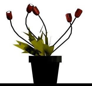 Flores en maceta 3d, en Plantas de interior 3d – Arboles y plantas