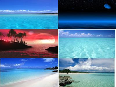 Fondos mar y playas, en Cielos – Objetos paisajísticos